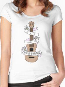 Ukulele Song Lyrics Women's Fitted Scoop T-Shirt