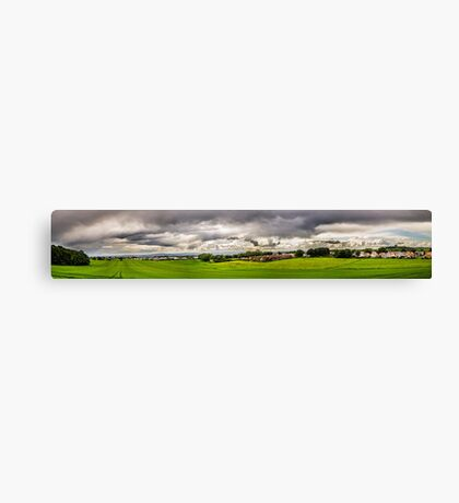 Green Fields and White Clouds Canvas Print
