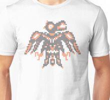 cross stitch  embroidery  bird Unisex T-Shirt