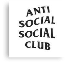Anti Social Social Club Canvas Print
