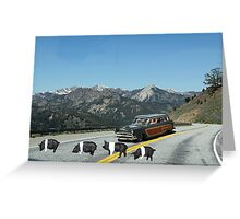 You just can't avoid them!  Even in the mountains Dick encounters road hogs! Greeting Card
