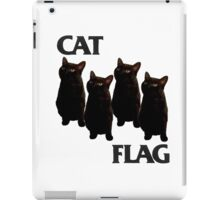 Cat Flag Black flag iPad Case/Skin