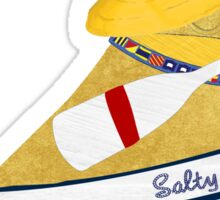 Nautical Preppy Yellow Lab Aboard The Salty Dog Sticker