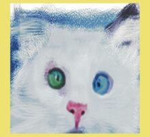 cat in chalk Kids Tee