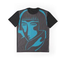woman face 1928, black and blue Graphic T-Shirt