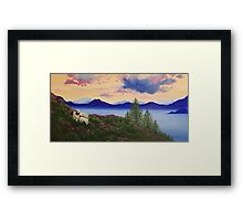 Blue Mountain Valais Sheep Framed Print