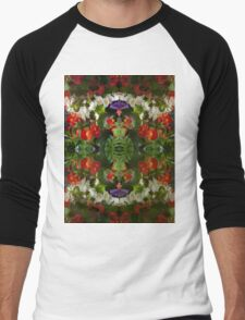 Flowers reflection by four Men's Baseball ¾ T-Shirt