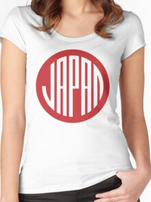 Japan - japanese round design symbol Women's Fitted Scoop T-Shirt