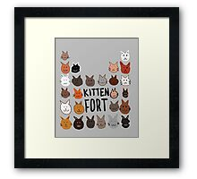 Because, Cats. Framed Print