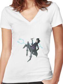 Sherlock Floats Women's Fitted V-Neck T-Shirt