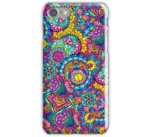Modern hand drawn mandala floral bright watercolor iPhone Case/Skin