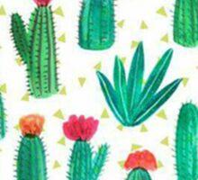 Arizona State Outline Watercolor Cacti Sticker