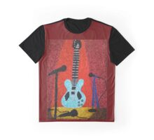 Guitar on Stage Graphic T-Shirt