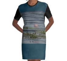 Tranquil Waters  Graphic T-Shirt Dress