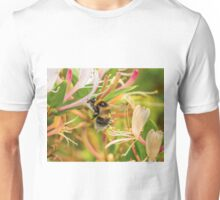 Bumble bee on honeysuckle Unisex T-Shirt