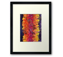 Abstract Purple Yellow Fire Framed Print