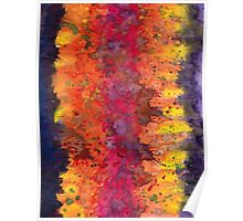 Abstract Purple Yellow Fire Poster