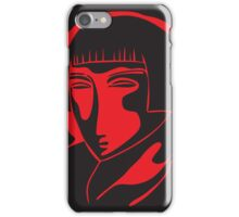 woman face 1928, black and red iPhone Case/Skin