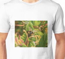 Bumble bee on honeysuckle again Unisex T-Shirt