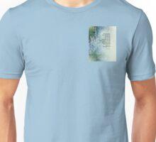 Serenity Prayer Blue Cone Flowers Unisex T-Shirt