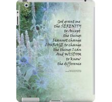 Serenity Prayer Blue Cone Flowers iPad Case/Skin
