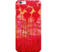 Red flowers in abstracted style iPhone Case/Skin