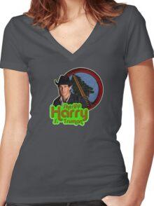 Sheriff Harry S. Truman Women's Fitted V-Neck T-Shirt