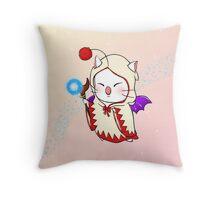 Moogle - White Mage Throw Pillow