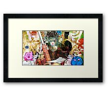 Kirby! Pixel Design Framed Print