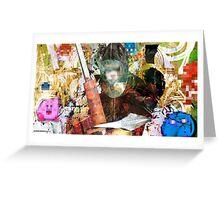 Kirby! Pixel Design Greeting Card