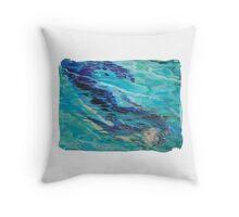 Mermaid Below the Surface Throw Pillow