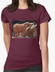Happy Baby Elephant Womens Fitted T-Shirt