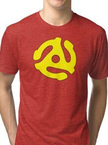 Record adapter yellow Tri-blend T-Shirt