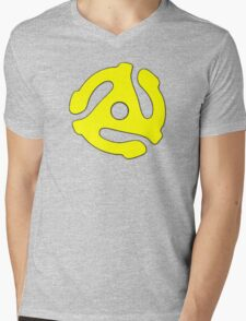 Record adapter yellow Mens V-Neck T-Shirt