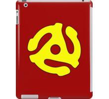 Record adapter yellow iPad Case/Skin