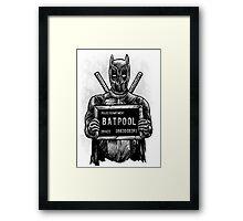 Batpool - Batman Deadpool Mashup! Framed Print