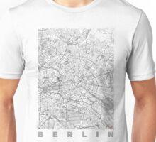 Berlin Map Line Unisex T-Shirt