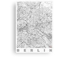Berlin Map Line Canvas Print