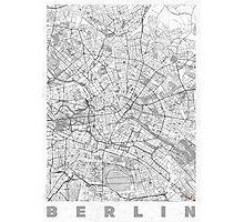 Berlin Map Line Photographic Print
