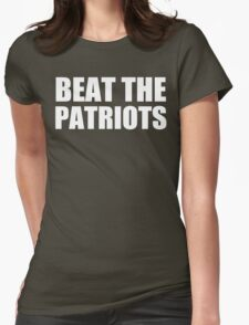 New York Jets - Beat the Patriots - White Text Womens Fitted T-Shirt