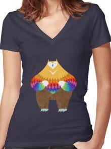 OwlBear Women's Fitted V-Neck T-Shirt
