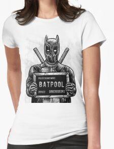 Batpool - Batman Deadpool Mashup! Womens Fitted T-Shirt