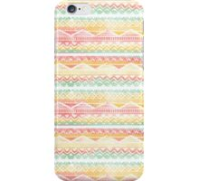 Modern pastel hand drawn watercolor aztec pattern iPhone Case/Skin