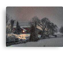 Snow on the Farm Canvas Print