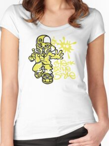 Graffiti Boy Flex Women's Fitted Scoop T-Shirt