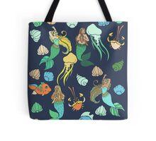 Mermaids in the Ocean  Tote Bag