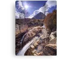 Buachaille Etive Mor from the River Coupall Canvas Print