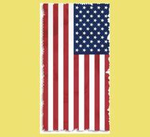 Abstract USA Flag Baby Tee