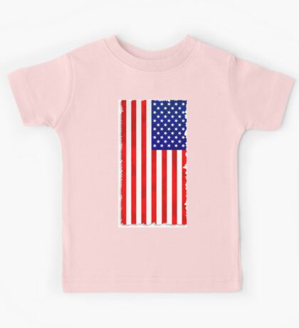 Abstract USA Flag Kids Tee