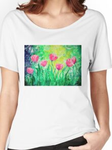 Dancing Tulips by Jan Marvin Women's Relaxed Fit T-Shirt